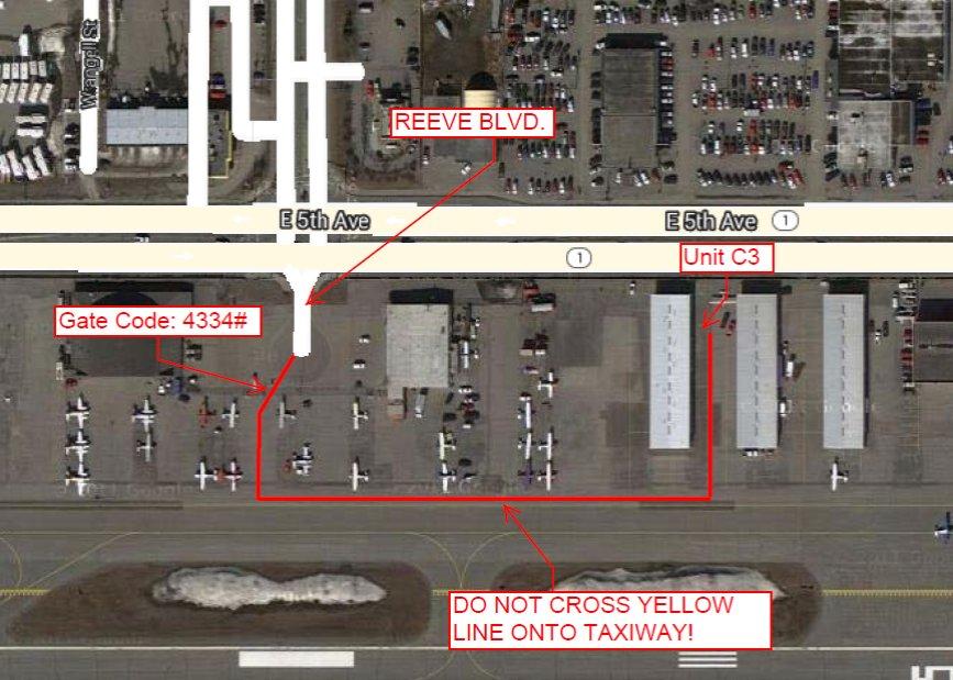 Jonathan Fant Hangar Map